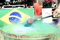 Βραζιλιάνα διάθεση χρώματος με τα χρώματα Στοκ εικόνα με δικαίωμα ελεύθερης χρήσης