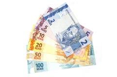βραζιλιάνα νομίσματα Στοκ Εικόνες