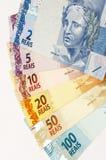 βραζιλιάνα νομίσματα Στοκ Φωτογραφίες