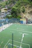 Βραζιλιάνα πίσσα ποδοσφαίρου Favela Στοκ φωτογραφία με δικαίωμα ελεύθερης χρήσης