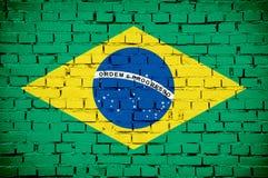βραζιλιάνα σημαία Στοκ εικόνες με δικαίωμα ελεύθερης χρήσης
