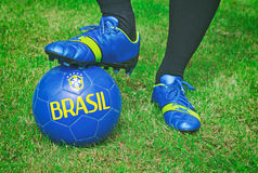 Βραζιλιάνα συνομοσπονδία ποδοσφαίρου στοκ εικόνες