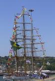 Βραζιλιάνες ψηλές επισκέψεις Νέα Υόρκη Cisne Branco σκαφών κατά τη διάρκεια της εβδομάδας 2012 στόλου Στοκ φωτογραφίες με δικαίωμα ελεύθερης χρήσης