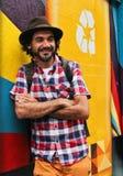 Βραζιλιάνος καλλιτέχνης Eduardo Kobra γκράφιτι Στοκ φωτογραφία με δικαίωμα ελεύθερης χρήσης