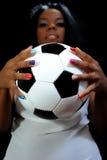 Βραζιλιάνος οπαδός ποδοσφαίρου Στοκ Εικόνες