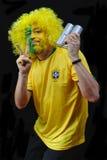 Βραζιλιάνος οπαδός ποδοσφαίρου Στοκ φωτογραφίες με δικαίωμα ελεύθερης χρήσης