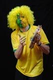 Βραζιλιάνος οπαδός ποδοσφαίρου Στοκ Φωτογραφία