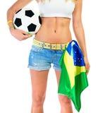 Βραζιλιάνος υποστηρικτής ομάδων ποδοσφαίρου Στοκ φωτογραφία με δικαίωμα ελεύθερης χρήσης