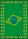 Βραζιλιάνο βρώμικο πλαίσιο αφισών Στοκ φωτογραφίες με δικαίωμα ελεύθερης χρήσης