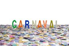 Βραζιλιάνο κομφετί καρναβαλιού και ζωηρόχρωμος Στοκ Εικόνες