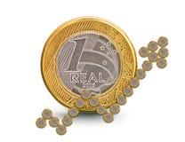Βραζιλιάνο νόμισμα αύξησης Στοκ Εικόνα