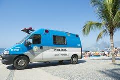 Βραζιλιάνο Ρίο ντε Τζανέιρο Βραζιλία αστυνομίας Van Arpoador Στοκ Εικόνα