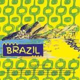 Βραζιλιάνο συρμένο χέρι σκίτσο Στοκ Εικόνες