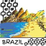 Βραζιλιάνο συρμένο χέρι σκίτσο Στοκ φωτογραφία με δικαίωμα ελεύθερης χρήσης