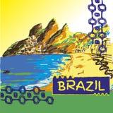 Βραζιλιάνο συρμένο χέρι σκίτσο Στοκ φωτογραφίες με δικαίωμα ελεύθερης χρήσης