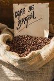 Βραζιλιάνο φασόλι καφέ στοκ εικόνες