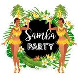 βραζιλιάνο samba χορευτών Στοκ Φωτογραφίες