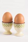 βρασμένα αυγά δύο Στοκ Εικόνες