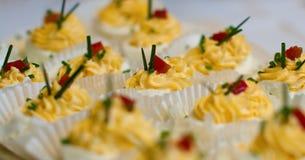 βρασμένα αυγά που γεμίζον Στοκ φωτογραφία με δικαίωμα ελεύθερης χρήσης