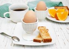 βρασμένα αυγά προγευμάτω&nu Στοκ Εικόνα