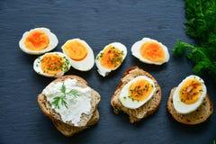 βρασμένα αυγά σκληρά Στοκ Εικόνες