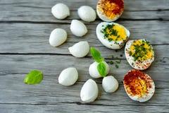 βρασμένα αυγά σκληρά Στοκ Φωτογραφίες
