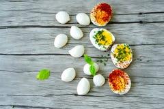 βρασμένα αυγά σκληρά Στοκ Εικόνα