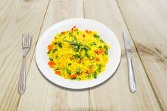 βρασμένα λαχανικά ρυζιού Στοκ εικόνα με δικαίωμα ελεύθερης χρήσης
