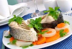 βρασμένα λαχανικά ψαριών Στοκ εικόνες με δικαίωμα ελεύθερης χρήσης