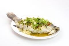 Βρασμένα στον ατμό λεμόνι snapper ψάρια Στοκ Φωτογραφία