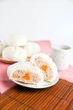 Βρασμένα στον ατμό κουλούρια χοιρινού κρέατος, κινεζικό αμυδρό ποσό Στοκ φωτογραφίες με δικαίωμα ελεύθερης χρήσης
