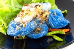 Βρασμένες στον ατμό μπουλέττες ρύζι-δερμάτων Στοκ Εικόνες