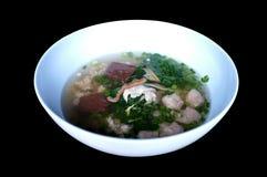 Βρασμένη σούπα αίματος χοιρινού κρέατος με τα μικτά λαχανικά στοκ φωτογραφία με δικαίωμα ελεύθερης χρήσης