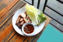 Βρασμένος ξυλάνθρακας λαιμός χοιρινού κρέατος στοκ φωτογραφία με δικαίωμα ελεύθερης χρήσης