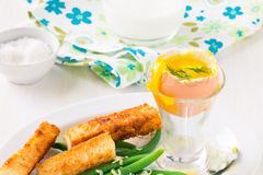 Βρασμένο αυγό για το πρόγευμα Στοκ εικόνα με δικαίωμα ελεύθερης χρήσης