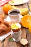βρασμένο αυγό μαλακό Στοκ Εικόνες