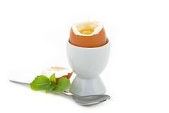 βρασμένο αυγό μαλακό Στοκ Φωτογραφίες