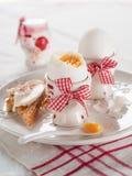 βρασμένο αυγό μαλακό Στοκ Φωτογραφία