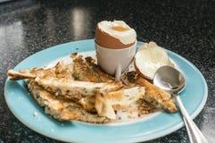 βρασμένο αυγό μαλακό Στοκ Εικόνα