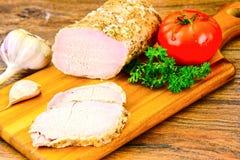 Βρασμένο κρύο χοιρινό κρέας με το καρύκευμα Στοκ φωτογραφίες με δικαίωμα ελεύθερης χρήσης
