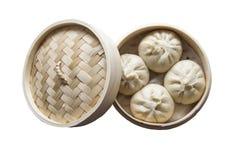 Βρασμένο στον ατμό γεμισμένο κουλούρι, κινεζικά τρόφιμα στοκ εικόνες