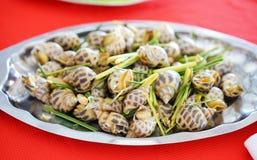 Βρασμένο στον ατμό γλυκό σαλιγκάρι με lemongrass Στοκ Εικόνα