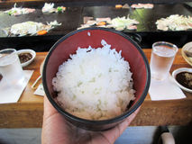 Βρασμένο στον ατμό ρύζι της Ιαπωνίας Στοκ Εικόνες