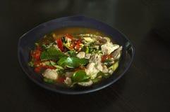 Βρασμένο χοιρινό κρέας με το σκόρδο ασβέστη και τη σάλτσα τσίλι (NAO (Εθνικός Οργανισμός Διαιτησίας) μουγκρητού μΑ στοκ φωτογραφίες με δικαίωμα ελεύθερης χρήσης