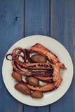 Βρασμένο χταπόδι με την πατάτα Στοκ φωτογραφία με δικαίωμα ελεύθερης χρήσης