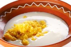βρασμένο polenta γάλακτος Στοκ Εικόνα