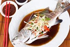 Βρασμενός στον ατμό Snapper με τη σόγια Sauce2 Στοκ φωτογραφία με δικαίωμα ελεύθερης χρήσης