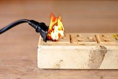 Βραχυκύκλωμα ηλεκτρικής ενέργειας Στοκ Φωτογραφίες