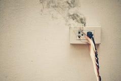 Βραχυκύκλωμα ηλεκτρικής ενέργειας Στοκ εικόνα με δικαίωμα ελεύθερης χρήσης