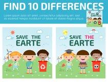 Βρείτε οι διαφοράς, παιχνίδι για παιδί, βρίσκει διαφορά, εγκέφαλος παιχνίδι, παιδί παιχνίδι, Στοκ φωτογραφίες με δικαίωμα ελεύθερης χρήσης